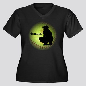 iCatch Fastp Women's Plus Size Dark V-Neck T-Shirt