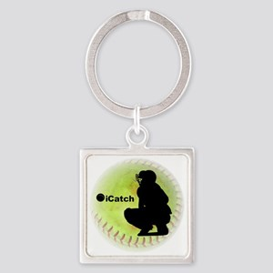 iCatch Fastpitch Softball Square Keychain