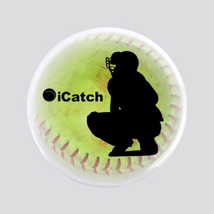 "iCatch Fastpitch Softball 3.5"" Button"