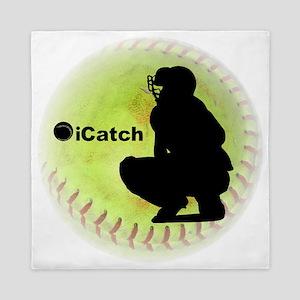 iCatch Fastpitch Softball Queen Duvet