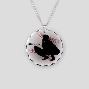iCatch Baseball Necklace Circle Charm