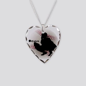 iCatch Baseball Necklace Heart Charm