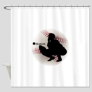 iCatch Baseball Shower Curtain