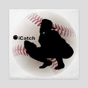 iCatch Baseball Queen Duvet