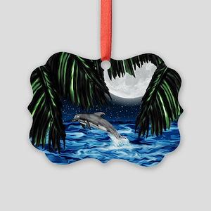 Moonlit Paradise 7.5x5.5_card Picture Ornament