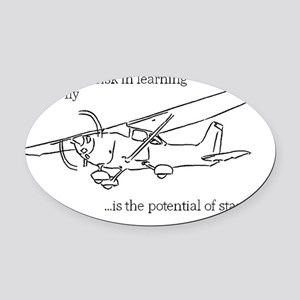 Flying Risk 2 Oval Car Magnet