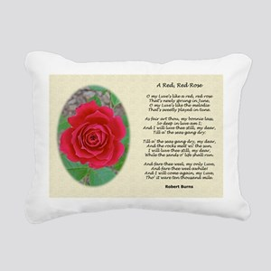A Red Red Rose Old Class Rectangular Canvas Pillow