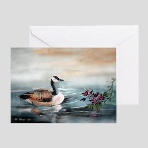 Geese_mum14x10_print Greeting Card