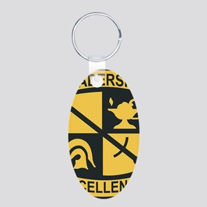 Army - SSI - ROTC Aluminum Oval Keychain