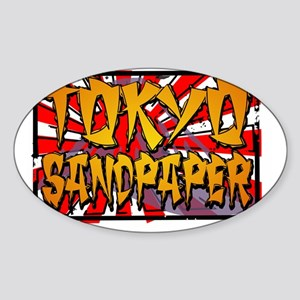TOKYO SANDPAPER Sticker (Oval)