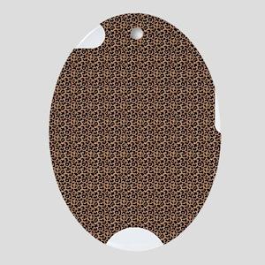 Leopard Print Oval Ornament