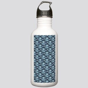Blue Camouflage Stainless Water Bottle 1.0L