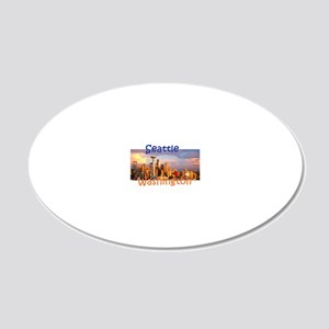 Seattle 20x12 Oval Wall Decal