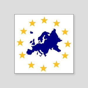 "europe_stars Square Sticker 3"" x 3"""