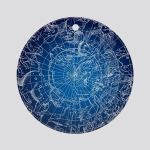 Celestial Map Round Ornament