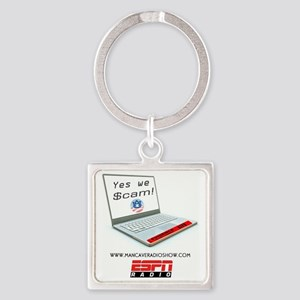 Yes_we_Scame_Logo-3 Square Keychain