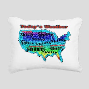 todaysweather Rectangular Canvas Pillow