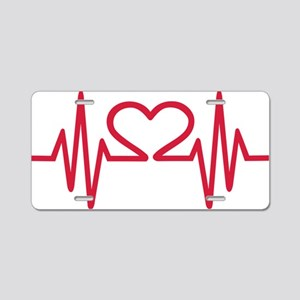 frequences_heart Aluminum License Plate