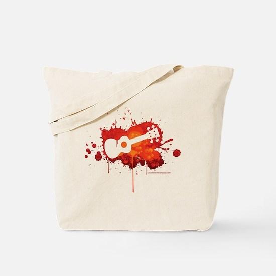 Ukulele Splash Red Tote Bag
