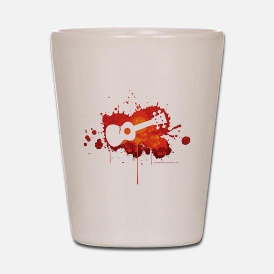 Ukulele Splash Red Shot Glass