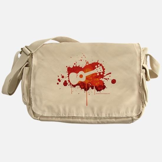 Ukulele Splash Red Messenger Bag