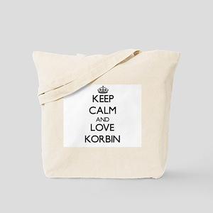Keep Calm and Love Korbin Tote Bag