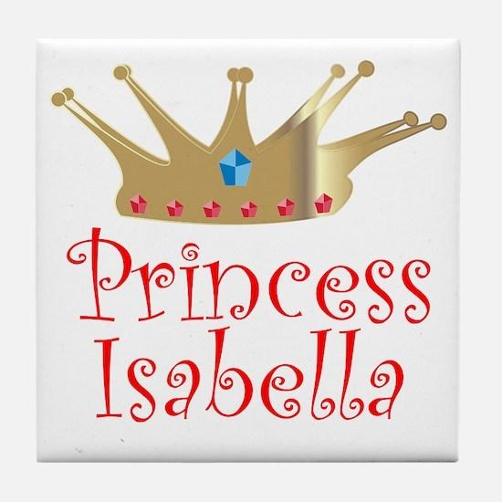 Princess Isabella stocking tr Tile Coaster