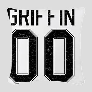 Griffin00-black Woven Throw Pillow