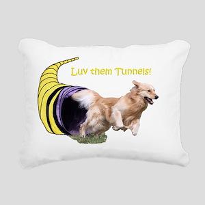 TunnelMerge2 Rectangular Canvas Pillow