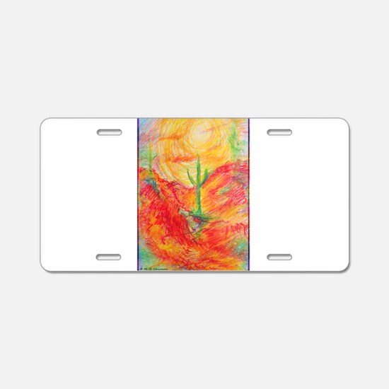 Southwest desert art! Aluminum License Plate