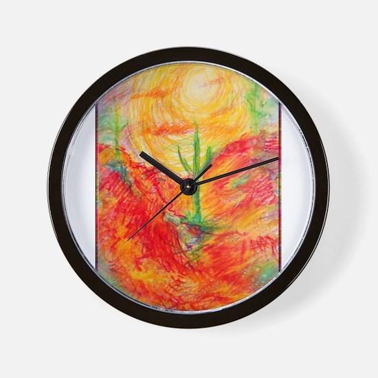 Southwest desert art! Wall Clock
