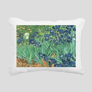 Irises, 1889 by Vincent  Rectangular Canvas Pillow