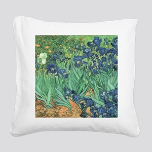 Irises, 1889 by Vincent Van G Square Canvas Pillow