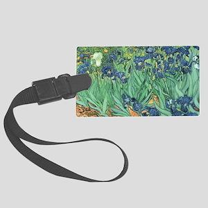 Irises, 1889 by Vincent Van Gogh Large Luggage Tag