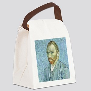 Self portrait, 1889 by Vincent Va Canvas Lunch Bag