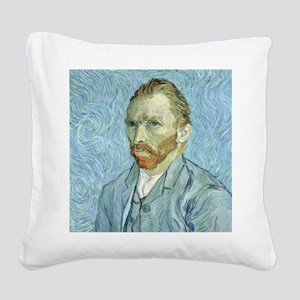 Self portrait, 1889 by Vincen Square Canvas Pillow