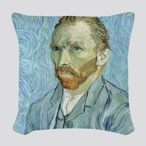 Self portrait, 1889 by Vincent Woven Throw Pillow