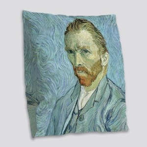 Self portrait, 1889 by Vincent Burlap Throw Pillow