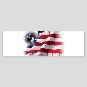 Patriotic God Bless America Soaring Eagle Bumper S