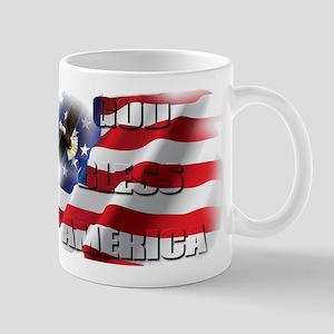 Patriotic God Bless America Soaring Eagle Mugs