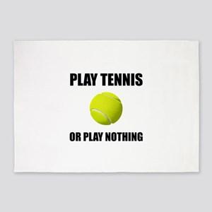 Play Tennis Or Nothing 5'x7'Area Rug