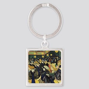 Dance Hall at Arles, 1888 by Vince Square Keychain