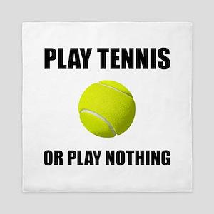 Play Tennis Or Nothing Queen Duvet
