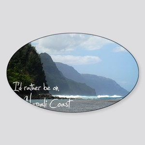 PostcardNapaliCoast Sticker (Oval)