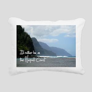 PostcardNapaliCoast Rectangular Canvas Pillow