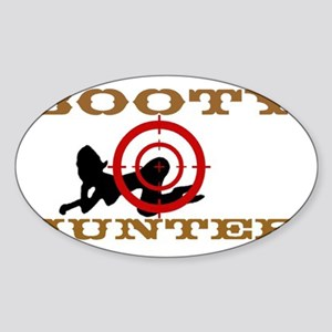Booty Hunter big cafepressB2 Sticker (Oval)