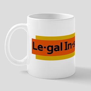 Legal Insurrection Logo - Plain Black Mug