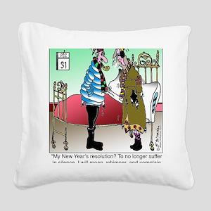 7581_HVAC_cartoon Square Canvas Pillow