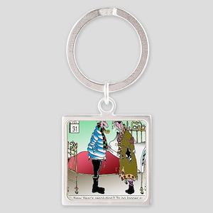 7581_HVAC_cartoon Square Keychain
