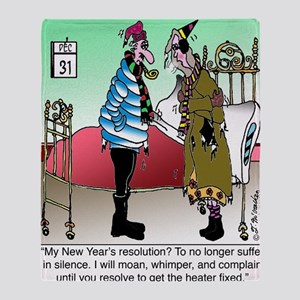 7581_HVAC_cartoon Throw Blanket